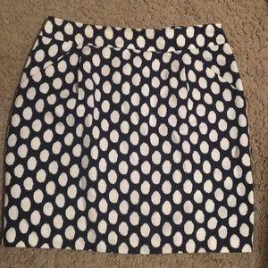 LOFT pencil skirt with polka dots